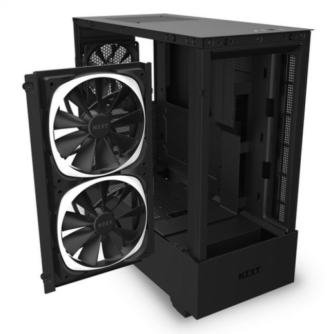 Корпус H510 Elite Compact  CA-H510E-B1 Mid Tower Matte Black Chassiswith Smart Device 2, 2x 140mm Aer RGB Case Fans, 1x LED Strips