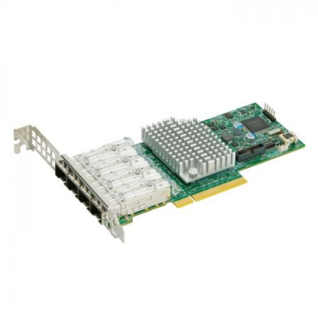 Сетевой адаптер AOC-STG-I4S  Network adapter 4-PORT 10GbE Standard LP Intel XL710-AM1 With SFP+