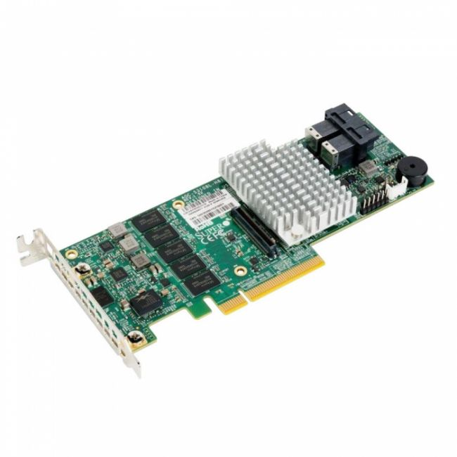 Контроллер Supermicro AOC-S3108L-H8IR-16DD Broadcom 3108 12Gb/s 8-port SAS Internal RAID Adapter supports up to 16 HDD RAID (0/1/5/6/10/50/60) 2GB cache
