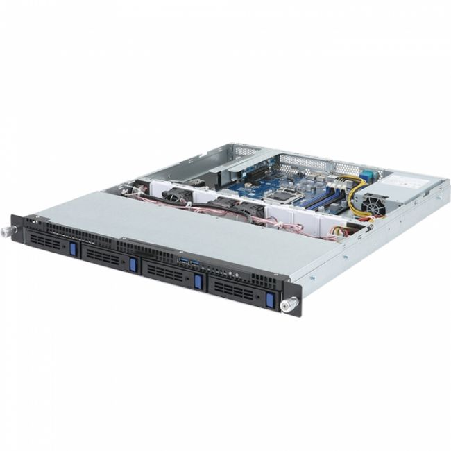 "Платформа системного блока R121-340 1U, LGA1151, Intel C232, 4 x DDR4, 4 x 3.5"" SATA, 2xGigabit Ethernet (1000 Мбит/с), 250 Вт"