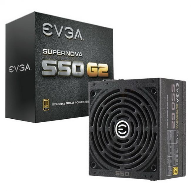 Блок питания 220-G2-0550-Y2, SuperNOVA 550 G2 80+ GOLD 550W, Fully Modular, EVGA ECO Mode550W, RTL {4}
