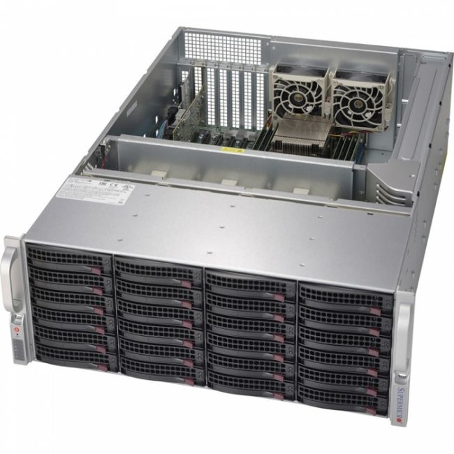Корпус Корпус SuperMicro CSE-846BE1C-R1K28B  Black 4U SC846B w/ SAS3 Single Expander and 1280W PWS