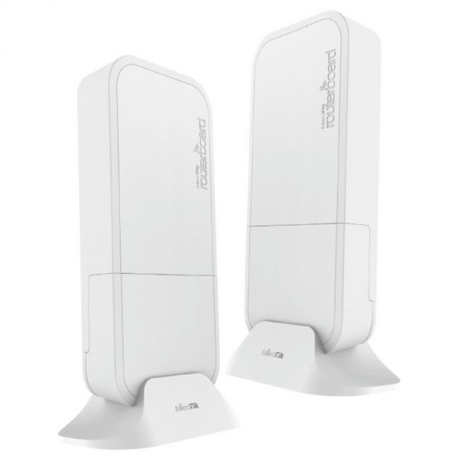 Маршрутизатор RBwAPG-60adkit комплект из двух преднастроенных RBwAPG-60ad devices for 60Ghz link (Phase array 60 degree 60GHz antennas, 802.11ad wireless, four core 716MHz CPU, 256MB RAM, 1x Gigabit LAN, RouterOS L3, POE, PSU)
