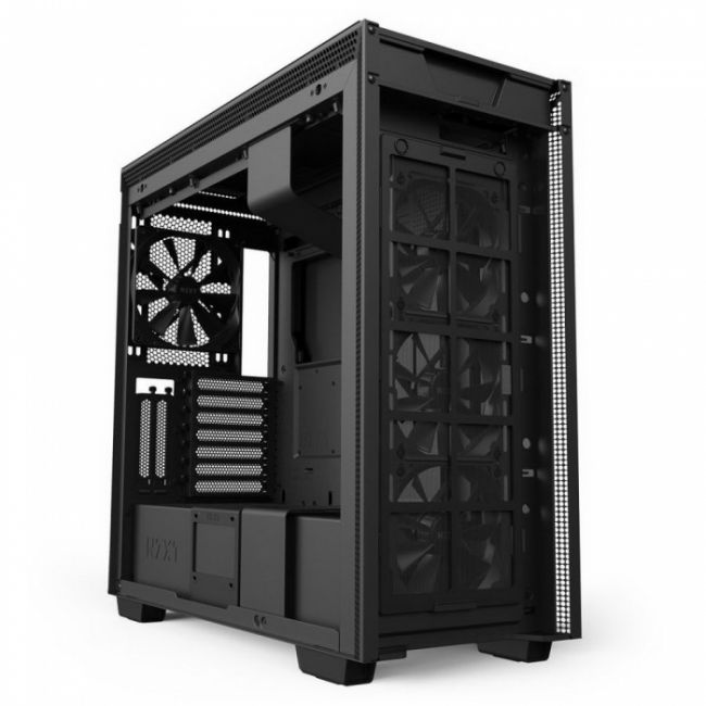 Корпус H710i CA-H710i-B1 Mid Tower Black/Black Chassis with Smart Device 2, 3x120, 1x140mm Aer F Case Fans, 2x LED Strips and