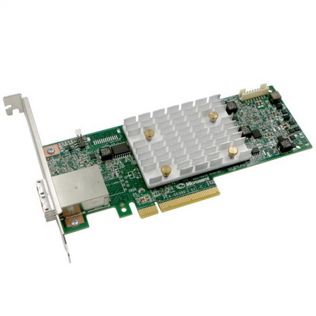 RAID-контроллер Adaptec SmartRAID 3154-8e (2290800-R) PCI Express 3.0 x8, SAS-3 12 Гб/с, 4GB, 2хSFF8644 external