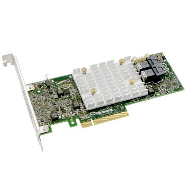 RAID-контроллер Adaptec SmartRAID 3152-8i (2290200-R) PCI Express 3.0 x8, SAS-3 12 Гб/с, 2GB, 2хSFF8643 internal