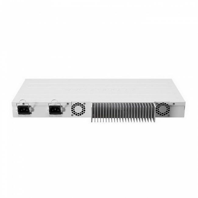 Маршрутизатор CCR2004-1G-12S+2XS with Annapurna Alpine AL32400 Cortex A57 CPU (4-cores, 1.7GHz per core), 4GB RAM, 1x Gigabit RJ45 port, 12x 10G SFP+ cages, 2 x 25G SFP28 cages, RouterOS L6, 1U rackmount case, Dual PSU, RTL {5}