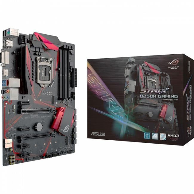 Bad Pack STRIX B250H GAMING, LGA1151,B250,SAFESLOT,M.2,MB, RTL