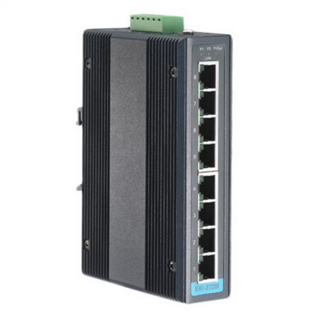 Коммутатор EKI-2728I-CE   8-port Industrial Unmanaged Ethernet Switch Advantech