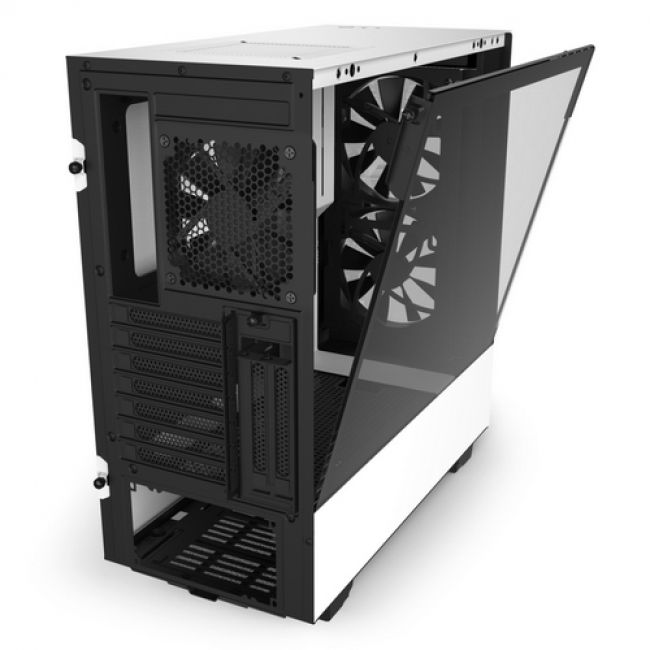 Корпус H510 Elite Compact  CA-H510E-W1 Mid Tower Matte White Chassiswith Smart Device 2, 2x 140mm Aer RGB Case Fans, 1x LED Strips