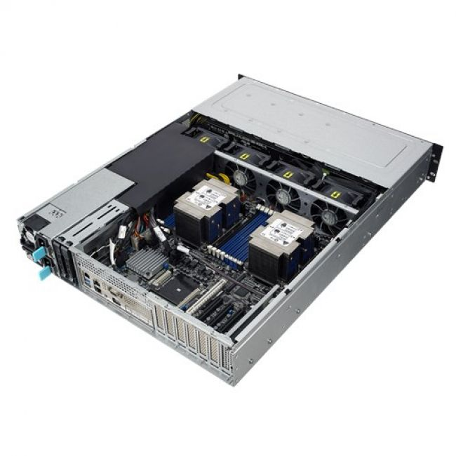 Платформа системного блока RS520-E9-RS8 (90SF0051-M00440) 2x SFF8643 + 4x OCuLink on the  backplane, w/o OCuLink card/cables, 2x 2.5 rear trays included, 2x 800W