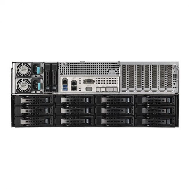 Платформа системного блока RS540-E9-RS36-E (90SF00R1-M00040) each (rear and front) backplans 3x SFF8643, NVMe don't support, 2x 2.5 rear trays, 2x 800W