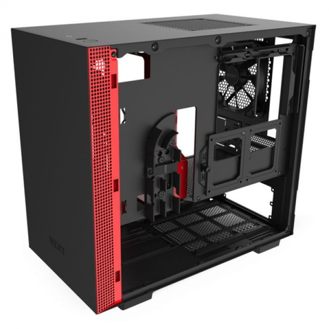 Корпус H210  CA-H210B-BR Mini ITX Black/Red Chassis with 2x 120mmAer F Case Fans