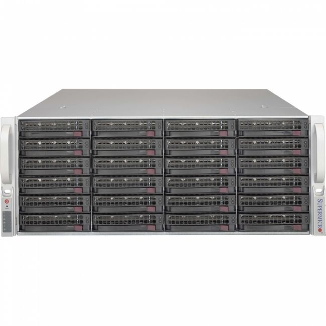"Корпус Корпус SuperMicro CSE-846XE2C-R1K23B 4U 13.68""x13"" E-ATX or 12""x10"" ATX, Dual/Single Intel/AMD CPU    1U 1200W Redundant w/PMbus, 80 Plus Titanium  24 x 3.5""    HotSwap SAS/SATA w/SES3"