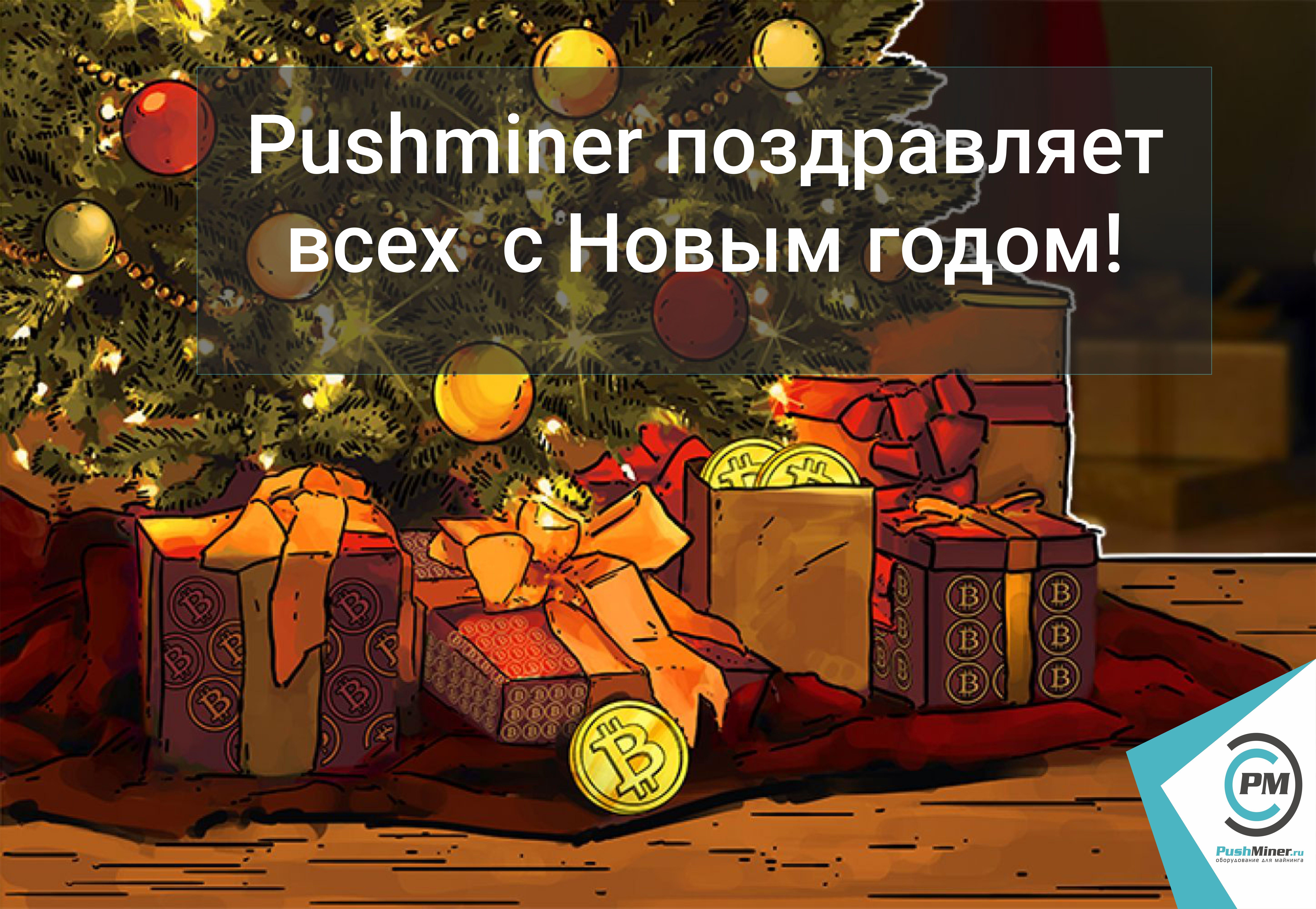 Pushminer поздравляет всех клиентов, а также будущих клиентов с Новым годом!