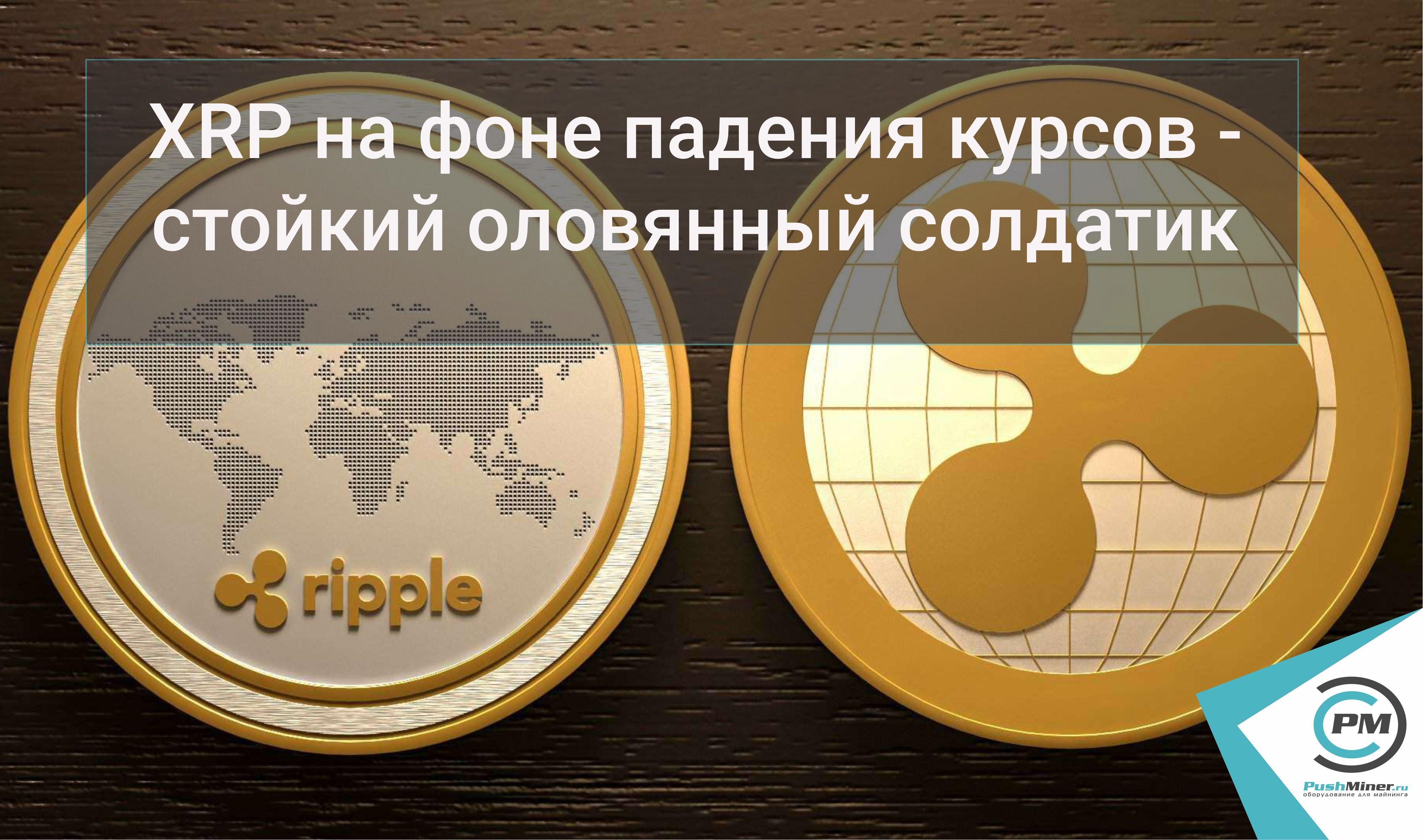 XRP на фоне падения курсов криптовалют - стойкий оловянный солдатик