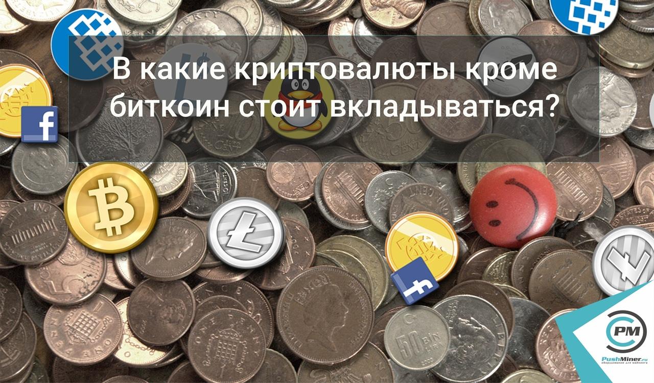 В какие криптовалюты кроме биткоин стоит вкладываться?