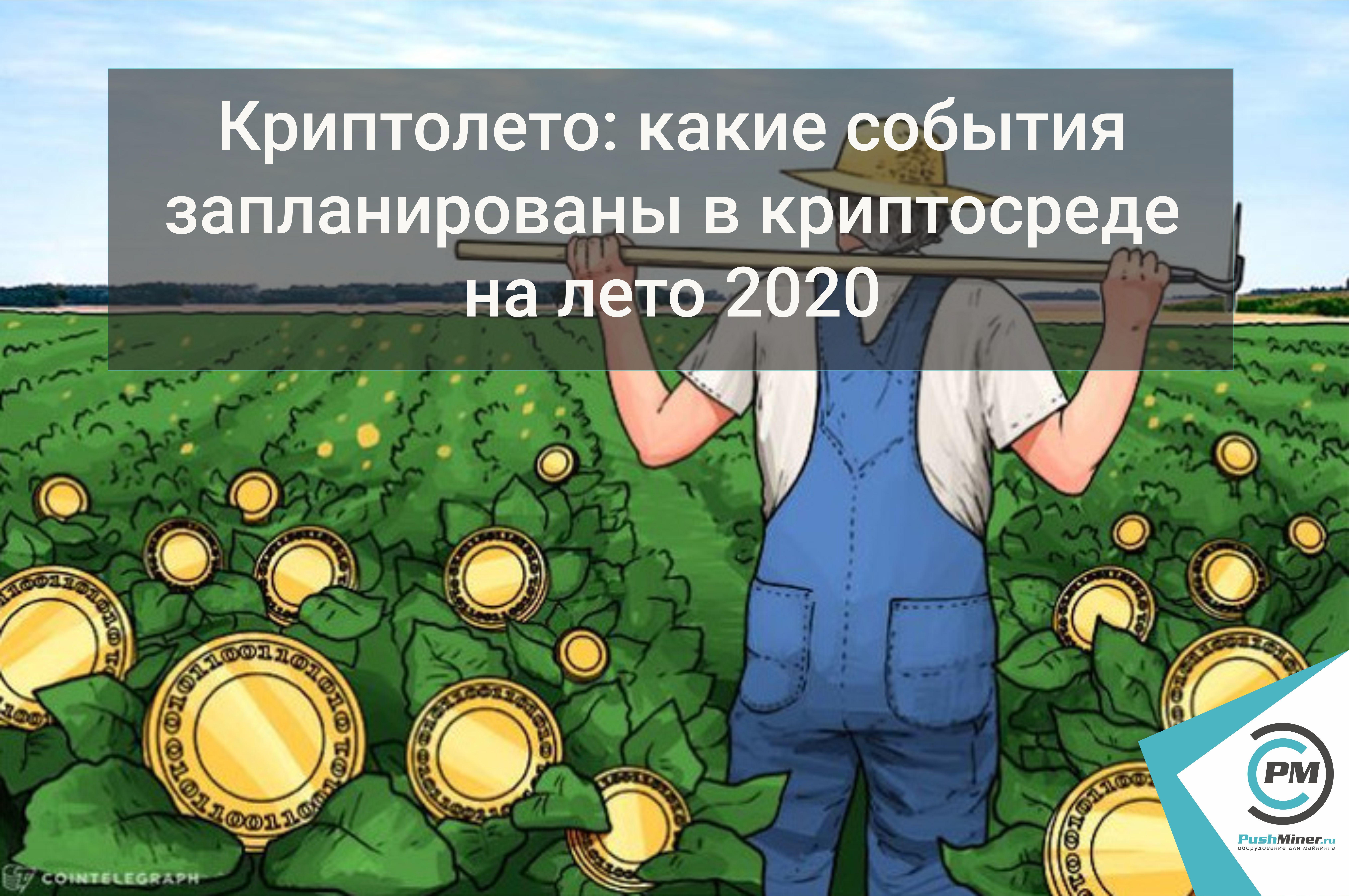 Криптолето: какие события запланированы в криптосреде на лето 2020